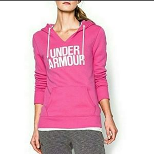 Under ARMOUR Womens Pink and white Hoodie